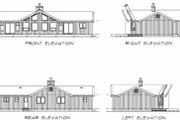 Contemporary Style House Plan - 3 Beds 2 Baths 1230 Sq/Ft Plan #47-315 Exterior - Rear Elevation