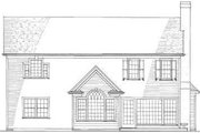 Traditional Style House Plan - 3 Beds 2 Baths 2204 Sq/Ft Plan #137-214 Exterior - Rear Elevation