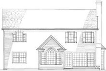 Home Plan - Traditional Exterior - Rear Elevation Plan #137-214