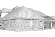 European Style House Plan - 4 Beds 2.5 Baths 2432 Sq/Ft Plan #63-187 Exterior - Rear Elevation