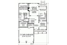 Southern Floor Plan - Main Floor Plan Plan #137-189