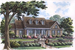 House Blueprint - Colonial Exterior - Front Elevation Plan #417-219