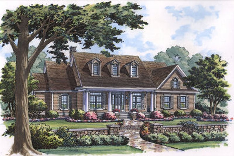 Colonial Exterior - Front Elevation Plan #417-219 - Houseplans.com