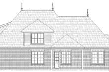 House Plan Design - Country Exterior - Rear Elevation Plan #932-209