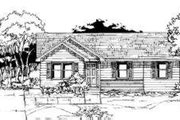 Ranch Style House Plan - 3 Beds 1 Baths 962 Sq/Ft Plan #334-102 Exterior - Front Elevation