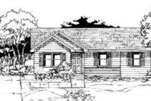 Ranch Exterior - Front Elevation Plan #334-102