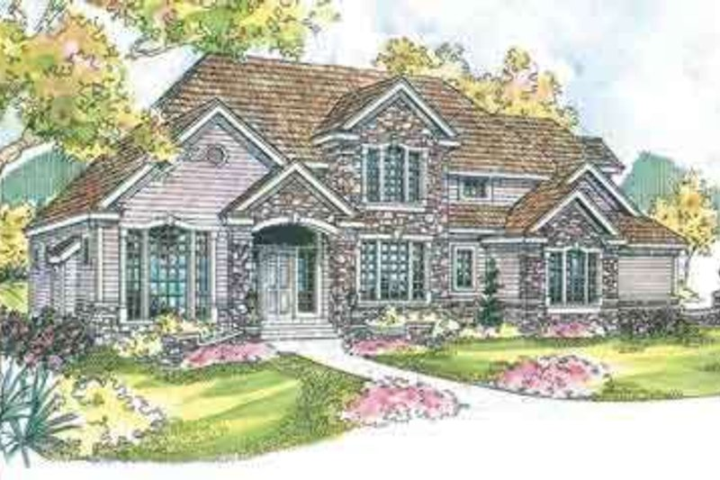 European Exterior - Front Elevation Plan #124-530