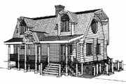 Log Style House Plan - 3 Beds 2 Baths 2296 Sq/Ft Plan #451-13 Exterior - Other Elevation