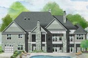 Traditional Style House Plan - 5 Beds 5 Baths 4186 Sq/Ft Plan #929-1042 Exterior - Rear Elevation