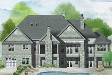 Home Plan - Traditional Exterior - Rear Elevation Plan #929-1042
