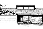 Ranch Style House Plan - 3 Beds 2 Baths 1457 Sq/Ft Plan #10-126 Exterior - Front Elevation