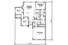 Craftsman Floor Plan - Main Floor Plan Plan #20-2334
