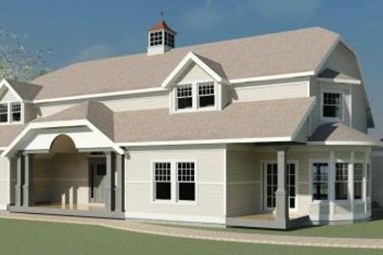 Traditional Exterior - Front Elevation Plan #524-13