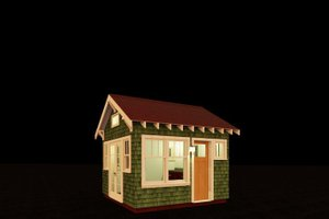 Craftsman Exterior - Front Elevation Plan #917-18