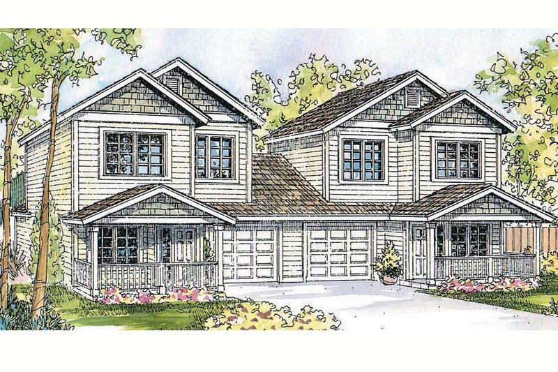 Traditional Exterior - Front Elevation Plan #124-813 - Houseplans.com