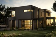 Modern Style House Plan - 4 Beds 2.5 Baths 3389 Sq/Ft Plan #496-17 Exterior - Front Elevation