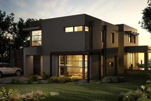 Modern Exterior - Front Elevation Plan #496-17