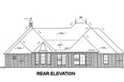 European Style House Plan - 3 Beds 2.5 Baths 2417 Sq/Ft Plan #310-673 Exterior - Rear Elevation
