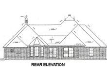 House Plan Design - European Exterior - Rear Elevation Plan #310-673