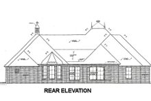 Home Plan - European Exterior - Rear Elevation Plan #310-673