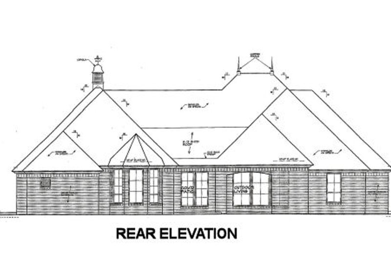 European Exterior - Rear Elevation Plan #310-673 - Houseplans.com