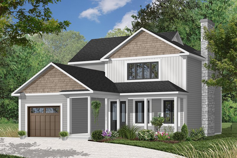 Country Exterior - Front Elevation Plan #23-259