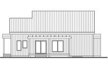 House Plan Design - Modern Exterior - Rear Elevation Plan #23-2676