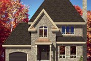 European Style House Plan - 3 Beds 1.5 Baths 1423 Sq/Ft Plan #138-281 Exterior - Front Elevation