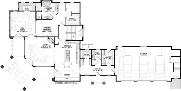 Craftsman Floor Plan - Main Floor Plan Plan #928-304