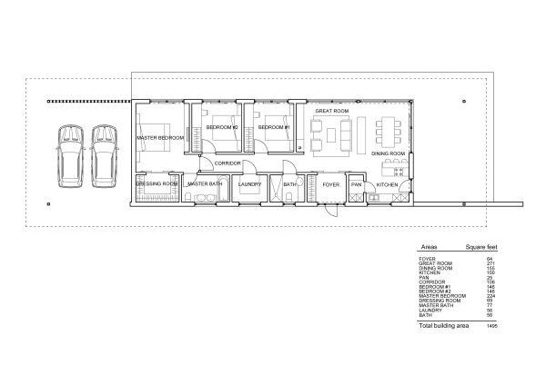 Modern Floor Plan - Main Floor Plan #552-7