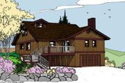 Traditional Style House Plan - 2 Beds 2.5 Baths 1360 Sq/Ft Plan #60-389 Exterior - Front Elevation