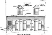 Country Style House Plan - 1 Beds 1 Baths 450 Sq/Ft Plan #116-228 Exterior - Other Elevation