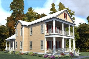 Home Plan - Farmhouse Exterior - Front Elevation Plan #63-378