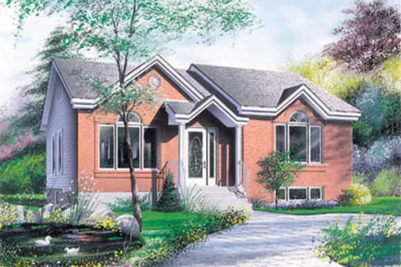 Modern Exterior - Front Elevation Plan #23-175