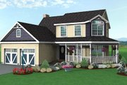 Traditional Style House Plan - 3 Beds 2.5 Baths 1536 Sq/Ft Plan #75-128 Exterior - Front Elevation