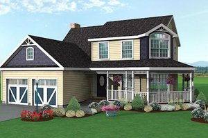 Traditional Exterior - Front Elevation Plan #75-128