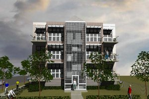 Contemporary Exterior - Front Elevation Plan #535-6