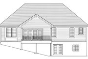 Traditional Style House Plan - 3 Beds 2.5 Baths 1814 Sq/Ft Plan #46-894 Exterior - Rear Elevation