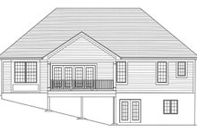 Home Plan - Traditional Exterior - Rear Elevation Plan #46-894