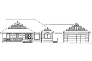 Country Exterior - Front Elevation Plan #117-776