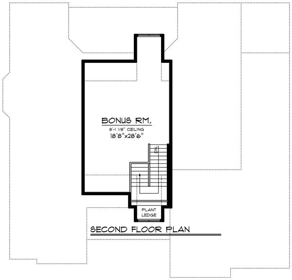 Ranch Floor Plan - Upper Floor Plan Plan #70-1421