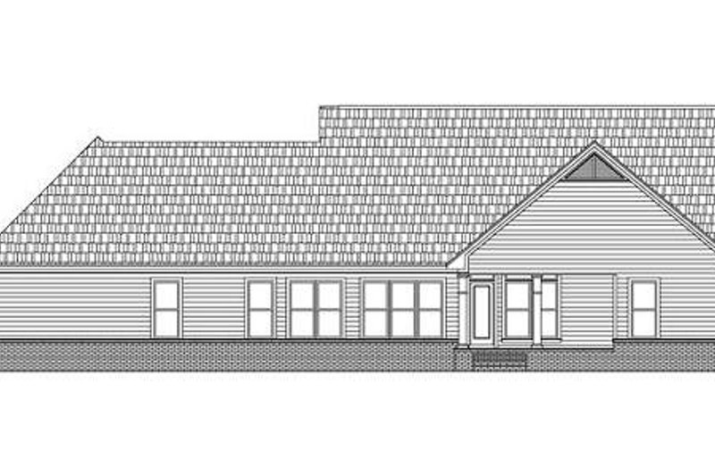 Country Exterior - Rear Elevation Plan #21-188 - Houseplans.com