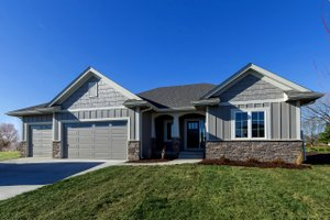 Ranch Exterior - Front Elevation Plan #70-1500