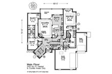 Country Floor Plan - Main Floor Plan Plan #310-1316