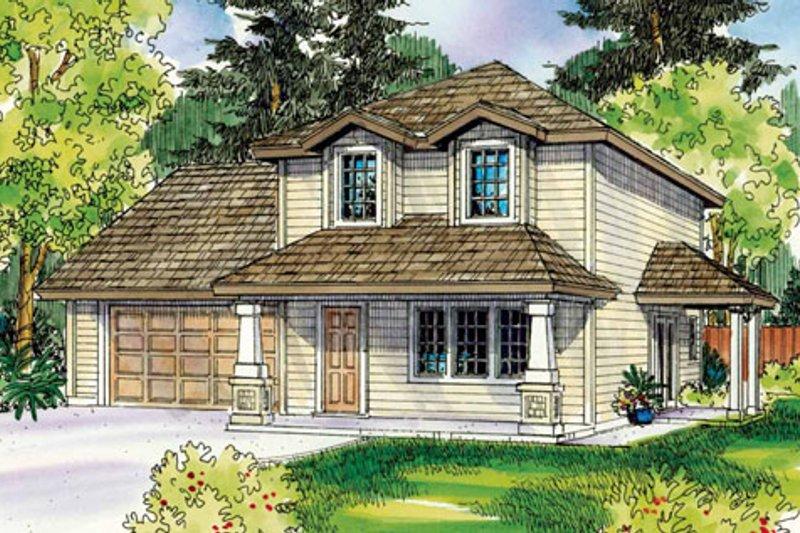 Craftsman Exterior - Front Elevation Plan #124-755