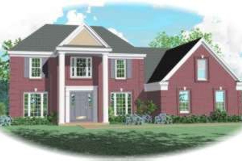 European Style House Plan - 4 Beds 2.5 Baths 2952 Sq/Ft Plan #81-807 Exterior - Front Elevation