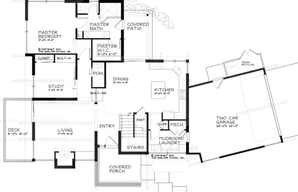 Modern Floor Plan - Main Floor Plan Plan #895-24
