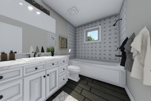 House Plan Design - Hall Bath