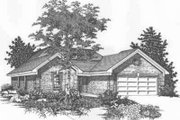 Traditional Style House Plan - 4 Beds 2 Baths 1450 Sq/Ft Plan #329-145 Exterior - Front Elevation