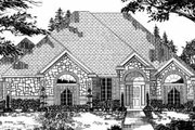 Traditional Style House Plan - 4 Beds 2 Baths 2617 Sq/Ft Plan #62-131 Exterior - Front Elevation